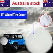 """14 inch White Car Spare Wheel Covers Tyre Cover For Tire Φ 60~69cm (24""""-27"""") AU"""