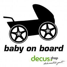 Baby on Board Kinderwagen // Sticker JDM Aufkleber Frontscheibe