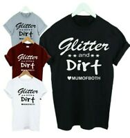 Mum of Both,Son,Daughter,boys,girls,Kids T-shirt,Mother,T shirt Glitter & Dirt