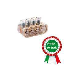 1 PEZZO MORSETTO ELETTRICO ISOLATO A CAPPUCCIO MULTIPLO 4X16 MM (4-6-10-16)