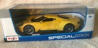 Maisto  2017 Ford GT 1:18 Scale Special Yellow Edition Diecast Model Car NIB!