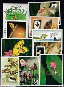 NP WHOLESALE 10S/S  - MNH - NATURE - BUTTERFLIES - FLOWERS