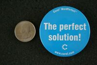 Corel WordPerfect The Perfect Solution Advertising Pin Pinback Button #22812