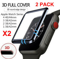 2-PACK 3D Tempered Glass Screen Protector For iWatch Apple Watch 38/40/42/44mm