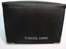 Cuero suave de viaje Ostra crédito tarjeta titular Cartera Espacio Para Papel Moneda