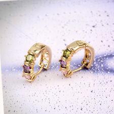 Earrings Wedding Fashion Bijoux Ear Stud Jewelry Earrings Gold Color Zircon