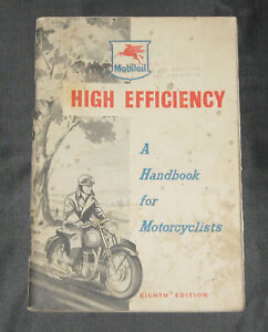 High Efficiency, Eighth Edition, A Handbook For Motorcyclists, Mobiloil