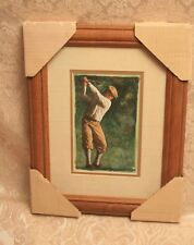 OLD FASHIONED GOLFER WEARING KNICKERS FRAMED PRINT