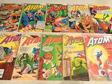 Lot of 10 Atom #8 9 11 14 18 20 21 25 27 42 Dr. Light, Hawkman 1963-1969 DC