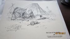 """CM Russell WESTERN Print Picture 10x13"""" THE LAST OF THE BUFFALO Indians in Camp"""