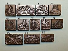 "12 VARIOUS ""BICYCLES"" Printing Blocks."