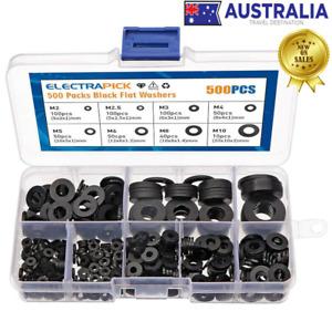 500pcs Plastic Washers Nylon Flat Nylon Corrosion-Free For Industrial Fixing AU