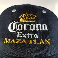 Corona Extra Mazatlan Ball Cap Hat Mexico Embroidered Black White4 Yellow Adjust