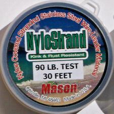 MASON NSR90 NYLOSTRAND S.S. LEADER WIRE 30 FT 90 LB