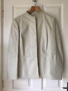 Max Mara Leather Jacket Size 14