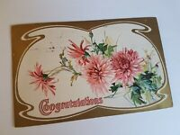 Greeting Postcard Vintage Congrats