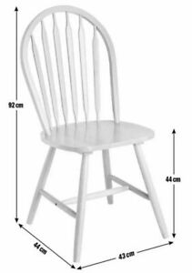 Kentucky Pair of Solid Wood Chairs - White