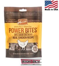 Natural Healthy Merrick Chicken Bites Dog Training Treats Grain Free Made in USA