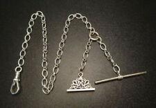Holder Chain T-Bar Fob Swivel Clasp Avt Studio Sterling Silver 925 Pocket Watch