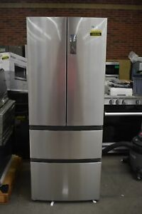 """Haier HRF15N3AGS 28"""" Stainless CD French Door Refrigerator NOB #103236"""
