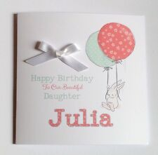 Personalised Bunny 1st Birthday Card Daughter Granddaughter Niece 2nd 3rd 4th 5