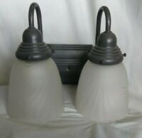 Moving Sale Art  Deco Sconces Frosted Shades Metal Wall Mount