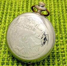 """Russian Pocket watch """"MOLNIJA"""" hunting. Mechanism ChСhZ 3602 18 jewels"""