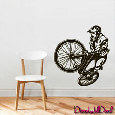 Wall Decal BMX Rider Sticker Bike Bicycle Trial Racing Cycle Jump Teen M1652