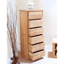 mobel oak tallboy 6 drawer tall chest large vertical chest of drawers