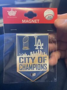 """Los Angeles Dodgers """"City Of Champions""""  Banner Magnet 2x3"""""""