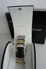 MENS MOVADO ELLIPTICA TWO TONE GOLD STAINLESS STEEL WATCH  LIMITED PRODUCT