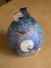Vintage Studio Art Pottery Ceramics Titled Pre-historic Bird & Signd M. Lloyd ?