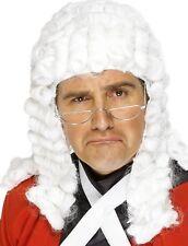 juge Perruque Déguisement blanc AVOCAT JUGES Perruque NEUF par SMIFFYS