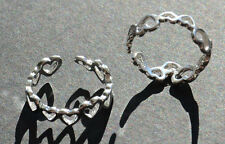 925 Silver Toe Ring or Finger Ring Adjustable. Beautiful New Heart Design