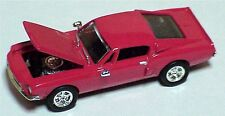 Racing Champions Ford Mustang fastback red color opening hood wide rubber tires