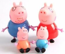 Peppa Pig Family Plastic 4PCS Figures Toys for kids-George,Peppa, Mummy, Daddy!