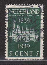 NVPH Netherlands Nederland 325 TOP CANCEL AMSTERDAM 100 jaar Spoorwegen 1939