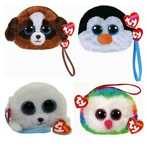 TY Beanies Plush Wristlet Coin Purse w Strap TY Fashion Collection