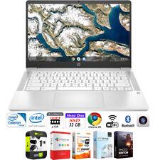 "HP 14"" HD Intel N4000 4GB SDRAM,32GB SSD Chromebook Laptop +Protection Plan Pack"