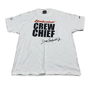 90s VTG BUDWEISER DALE EARNHARDT JR. Beer XL NASCAR Crew Chief T Shirt Chase