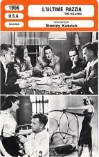 FICHE CINEMA : L'ULTIME RAZZIA - Hayden,Gray,Edwards,Kubrick 1956 The Killing