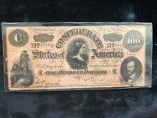 Confederate Currency 1864 One Hundred Dollars T-72 Series Ii