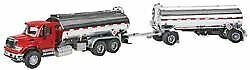 WALTHERS SCENEMASTER HO SCALE 1/87 INTL 7600 DOUBLE-TANKER WITH DECALS 949-11671