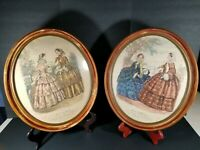 Vintage Set of 2 Miroir Des Modes Paris Fashion Art Prints Framed Wall Art