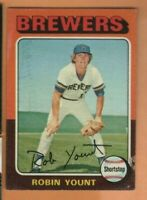 1975 Topps Baseball - #223 Robin Yount RC - Milwaukee Brewers - g/vg condition