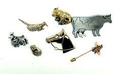 Signed Jj Gerrys Rhinestone Brooch Pins Lot Dog Cow Elephant Bee Horse Bird Lot
