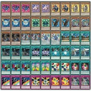 Yugioh! Kristallungeheuer Deck - 54 Karten - Jesse Anderson Regenbogen Kristall