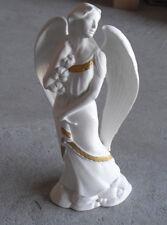 "1982 Franklin Mint Porcelain Holiday Angel Figurine 7 1/8"" Tall"