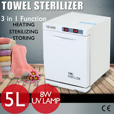 5L Hot Towel Warmer Cabinet UV Sterilizer Heater Spa Salon Tool Beauty Equipment