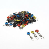 60x Fishing Tackle Running ledger zip slider beads snap links swivels 3 size uk